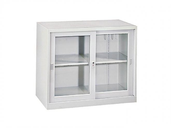 二層式玻璃加框拉門櫃