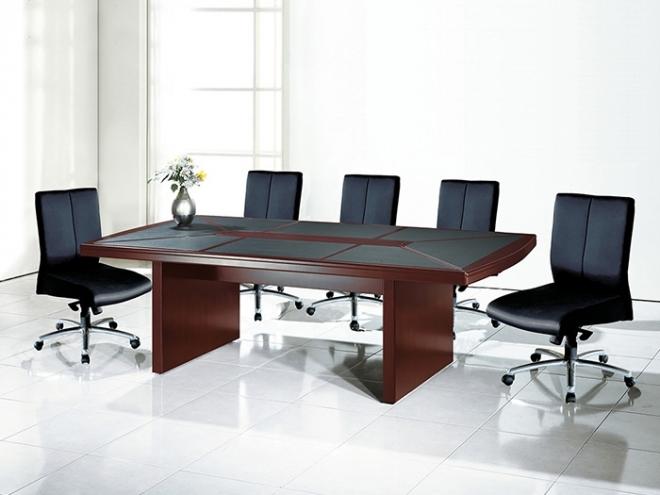 4X8全木皮優質會議桌