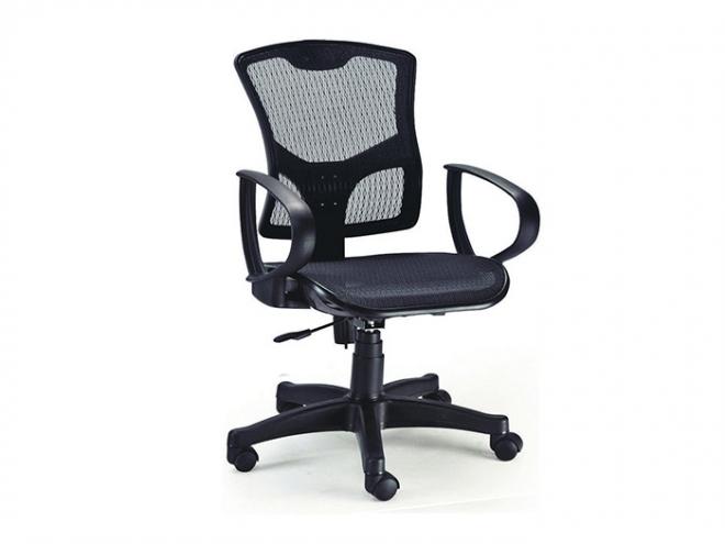 中型辦公網椅-黑網