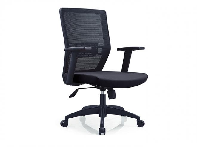 中型網布辦公椅-全黑布