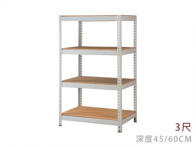 四層免螺絲角鋼架(H152)-3尺