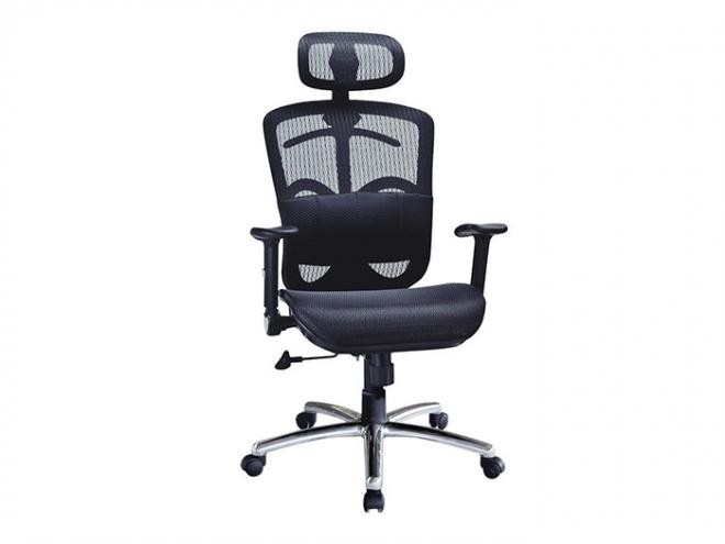 大型黑網布辦公椅