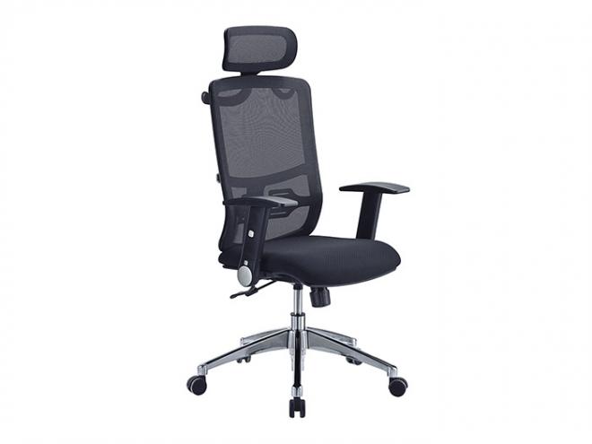 大型黑網布辦公椅(9011)