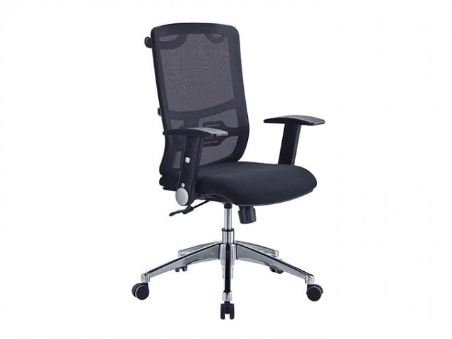 中型黑網布辦公椅
