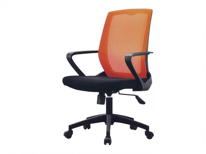 中型網布辦公椅(078)-橘